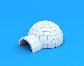 Igloo 3D model snow