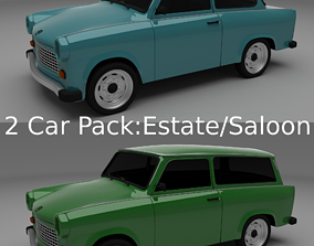 Trabant 601 estate saloon pack 3D
