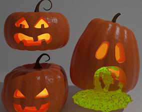 Halloween Pumpkins 3D rigged