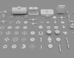 Hard Surface Kitbash vol 1 3D asset