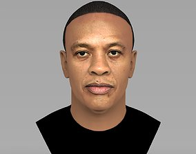 Dr Dre bust ready for full color 3D printing
