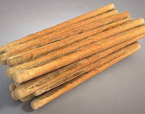 Bread Sticks 3D asset