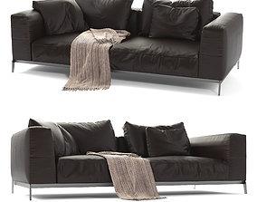 Flexform Leather Sofa Ettore 3D