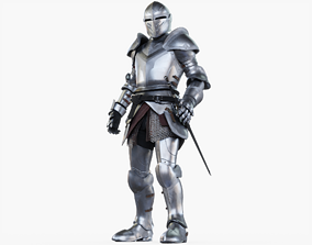 3D asset Knight Standing Posed