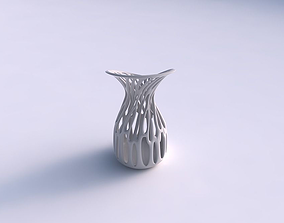 3D print model Vase wide with branches eccentric