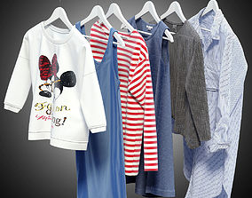 Women clothes of hangers part2 3D