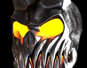 3D asset skull helmet mask
