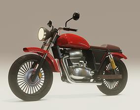 3D asset Old Cafe Racer Bike