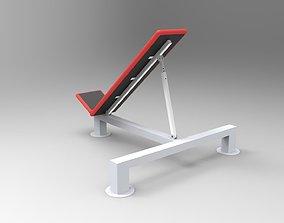 Gym chair 3D model