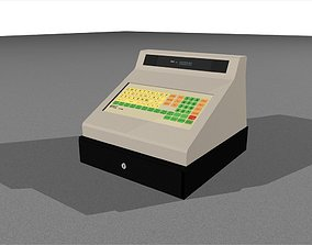 Cash Register With Opening Drawer 3D rigged
