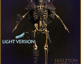 3D model animated Skeleton Footman Light Version