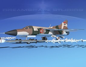 Mig 23 Flogger B Egypt 3D model