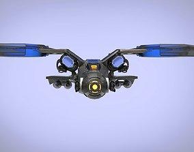 3D model Dragon Spaceship JET