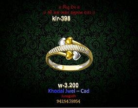 3D model game-ready ladies ring jewel fashion-ring
