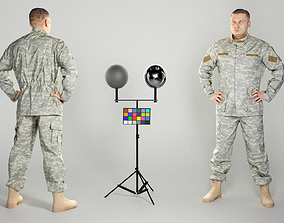 3D asset Brave soldier in American military uniform 227