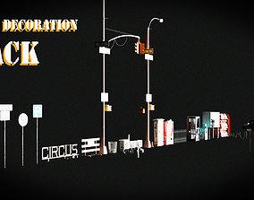 3D model City Decoration Pack