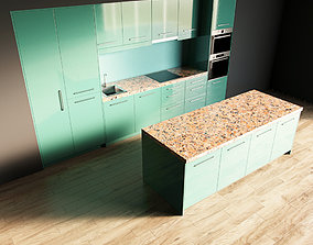 3D model 7-Kitchen7 glossy 1 hob