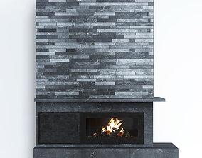 Fireplace modern 9 3D