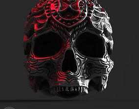 3D printable model ornamental skull