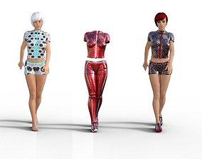 Line clothes - Genesis 3 female 3D asset