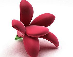 3D model Bright Red Flower Chair