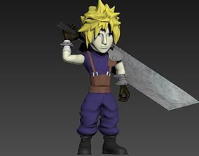 3D print model Cloud- Final Fantasy 7