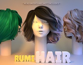head 3D Rumi Hair