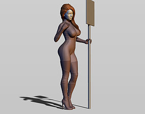 3D printable model Grid girl