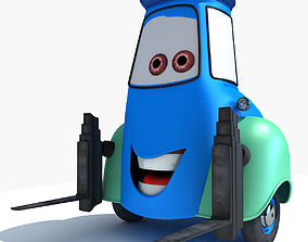 Guido Character from Movie Cars 3D