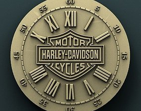 Harley Davidson wall clock 3d stl model 1