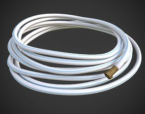 White Marine Hose 3D model