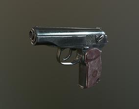 Makarov Pistol 3D asset game-ready