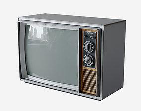Vintage Television Set 3D asset