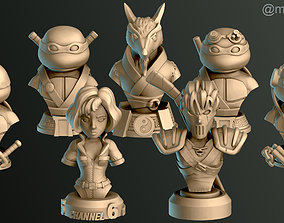 3D printable model Turtle Warriors and Master and Allies 5