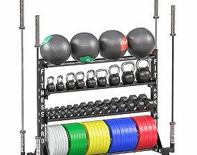 Weight storage rack 3D model