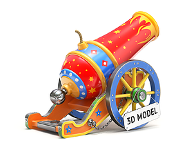 3D model Circus Cannon carnival