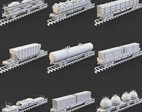 3D model Wagons