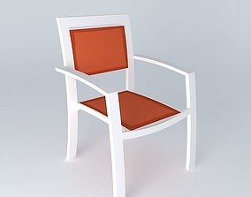 3D Orange armchair HAWAII houses the world