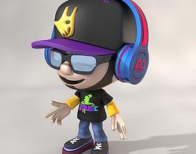 Cartoon DJ 3D model