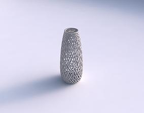 3D print model Vase Bullet with lattice tiles