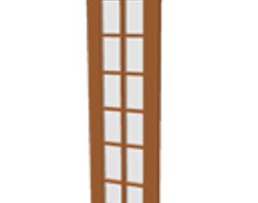 3D Patio door side window