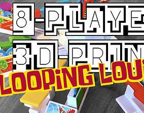 3D printable model Looping Louie 8 Player Adapter