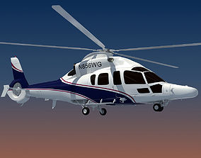 White Eurocopter EC155 3D Helicopter