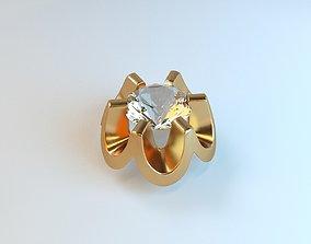 Jewelry cast 3D printable model