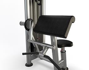 Gym Biceps Curl 3D