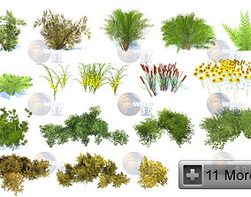 VR / AR ready Natural Forest Bush Collection Pack 2