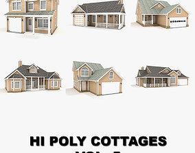 Hi-poly cottages collection vol 5 3D model