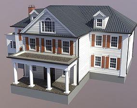 3D model Modern Suburban House 5