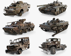 3D model Soviet Military Vehicles Wrecked