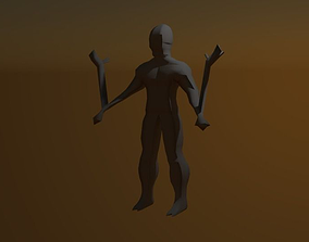 3D asset realtime Monster Low-Poly